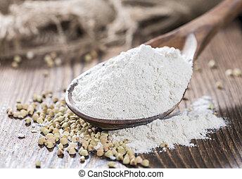 Heap of Buckwheat Flour