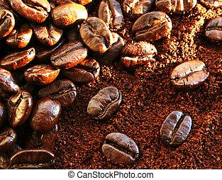 Heap of burnt arabica coffee beans - Heap of burnt brown ...