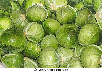 Heap of cabbage heads