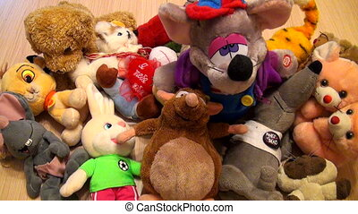 Heap of children's toys