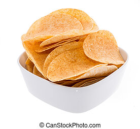 Heap of Chips in a bowl