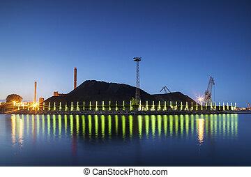 Heap of coal, Power Plant, Helsinki - Heap of coal storaged...