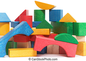 heap of color blocks