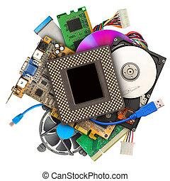 Heap of computer hardware