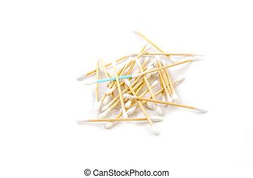 heap of cotton sticks
