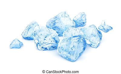 Heap of crushed ice isolated on white background
