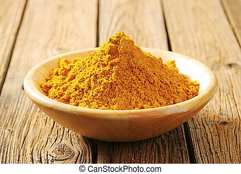 Heap of curry powder in a bowl