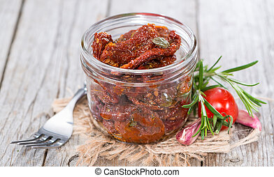 Heap of dried Tomatoes - Heap of sun dried Tomatoes with...