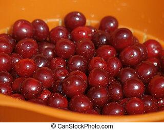 Heap of Fresh Cherry Fruits