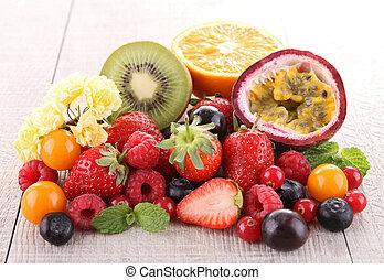 heap of fresh fruit