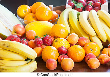 Heap of fresh fruits