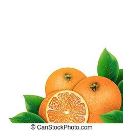 Heap of fresh orange