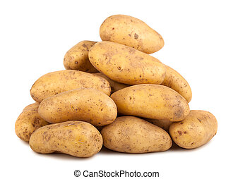 Heap of fresh potatoes