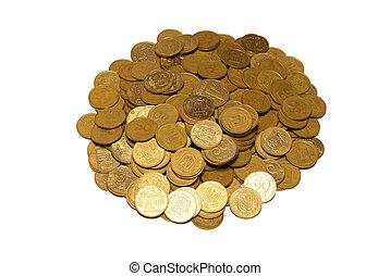 Heap of golden coins