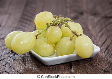 Heap of Grapes isolated on white