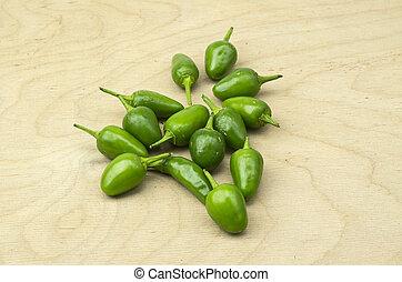 Heap of green chillis