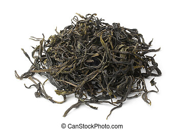 Heap of green tea