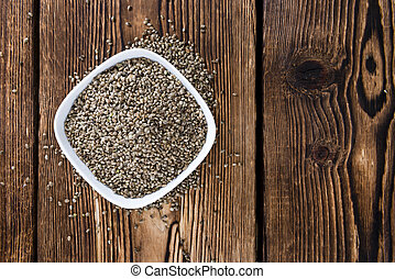Heap of Hemp Seeds
