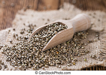 Heap of Hemp Seeds