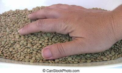 Heap of lentil