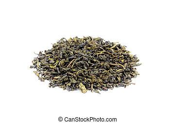 Heap of loose jasmine green tea