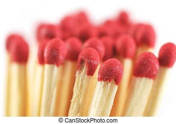Heap of matches - Heap of not lighted matches