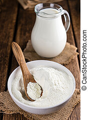Heap of Milk Powder (selective focus)