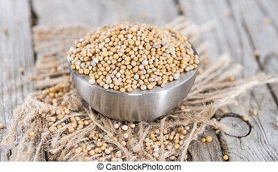 Mustard Seeds - Heap of Mustard Seeds (detailed close-up ...
