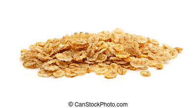 Heap of oat flakes