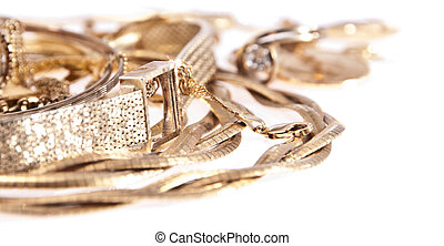 Heap of old jewellery - A heap consisting of old/antique...