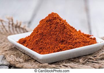 Heap of Paprika Powder (macro shot)