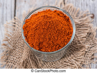 Heap of Paprika Powder (macro shot)