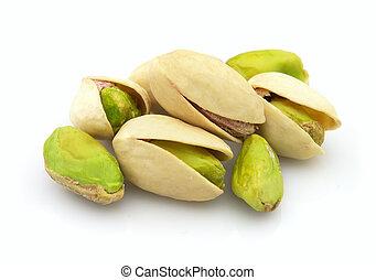 Heap of dried pistachio