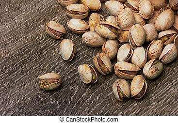 Heap of pistachios
