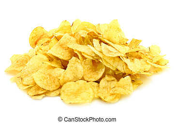 Heap of potato chips