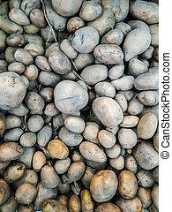 heap of potato for sale in market
