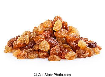 raisin - Heap of raisin on a white background