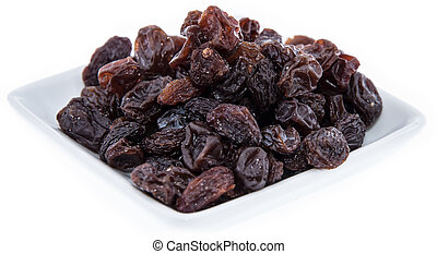 Heap of Raisins isolated on white