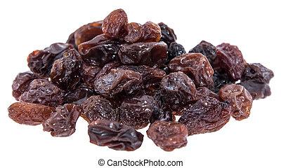 Heap of Raisins isolated on white