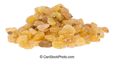 Heap of Raisins on white - Heap of Raisins isolated on white...