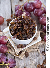 Raisins - Heap of Raisins with fresh fruits