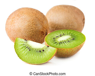 kiwi slices isolated