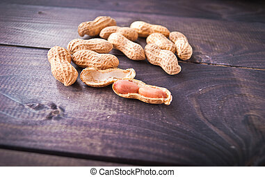 Heap of roasted peanuts