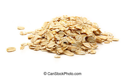 Heap of rolled oats