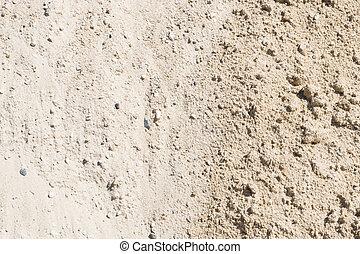 Sand, Gravel, Pebbles and Concrete Mix