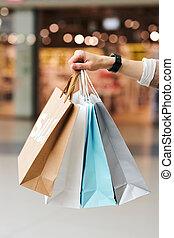 Heap of shopping bags