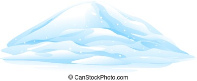 Heap of Snow - One big blue heap of snow, snow caps, bunch...