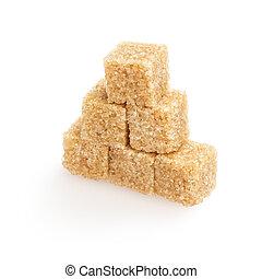 heap of sugarcane blocks