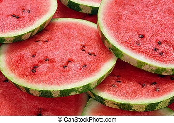 heap of watermelon slices