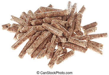 Heap of Wooden Pellets Cutout
